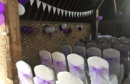 ceremony bunting and balloons