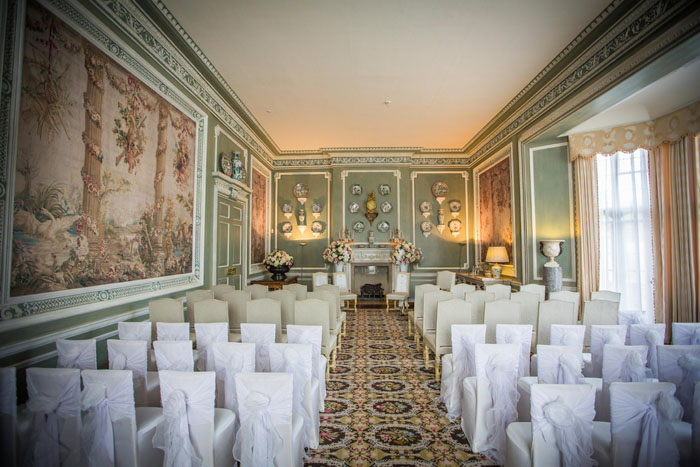 Wedding ceremony at Leeds Castle